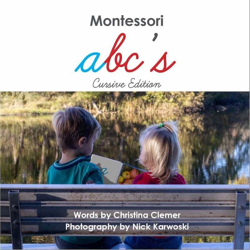 Cursive Montessori Alphabet Book