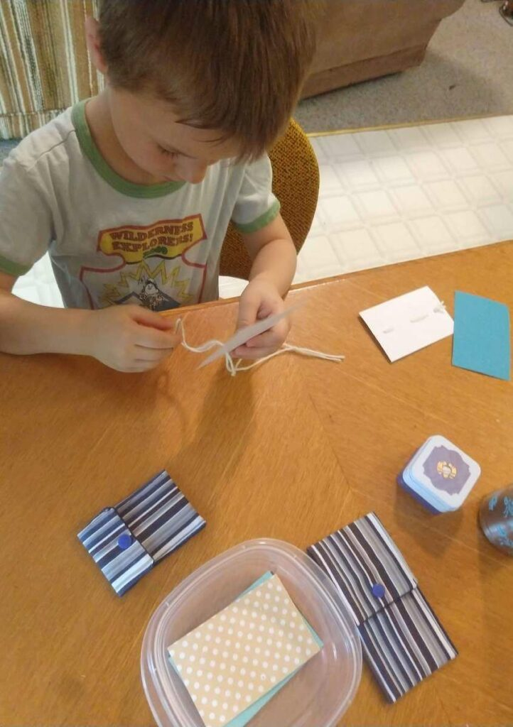 Paper Sewing Sewing with Kids