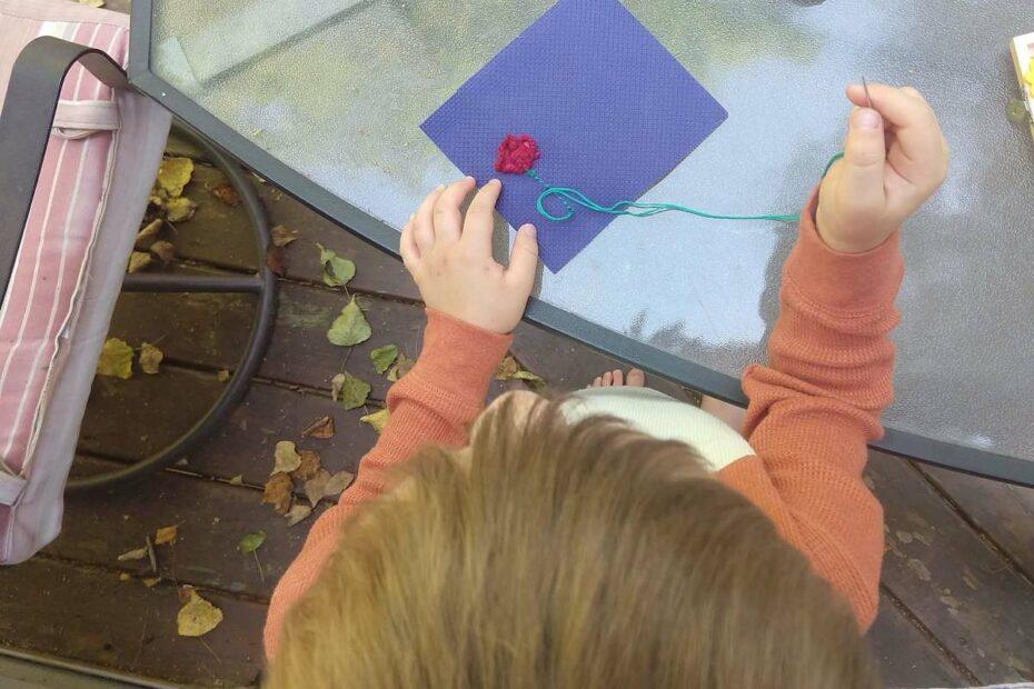 Montessori Homeschool Sewing