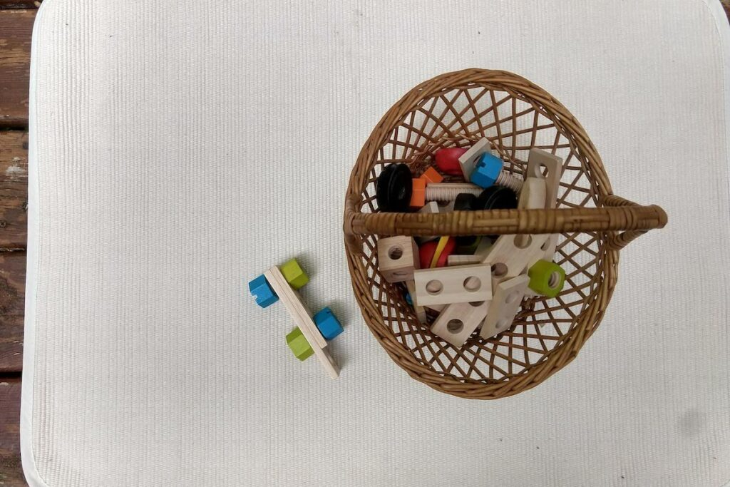 Wooden Nuts and Bolts Montessori Toy