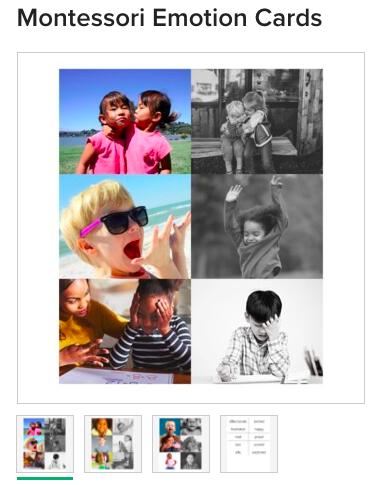Montessori Emotions Printable for Social Emotional Development homeschool